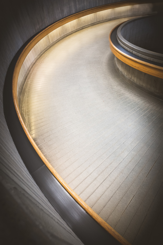 A piece of fine art art photography titled Staircase at Ottawa Train Station by Richard Huang