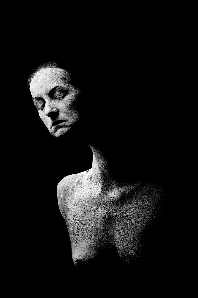 A piece of fine art art photography titled Woman Sculpture by Małgorzata Kossakowska