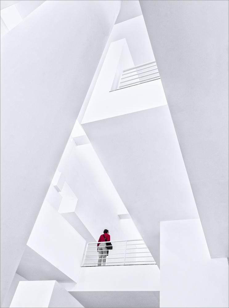 A piece of fine art art photography titled Museu D'Art Contemporani De Barcelona by Herbert A. Franke
