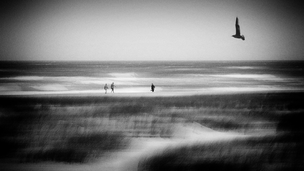 A piece of fine art art photography titled Storm at Sea by Jacqueline van Bijnen