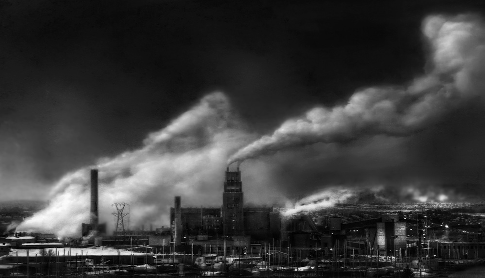 A piece of fine art art photography titled Be Part of a Solution, Not of Pollution by Yvette Depaepe