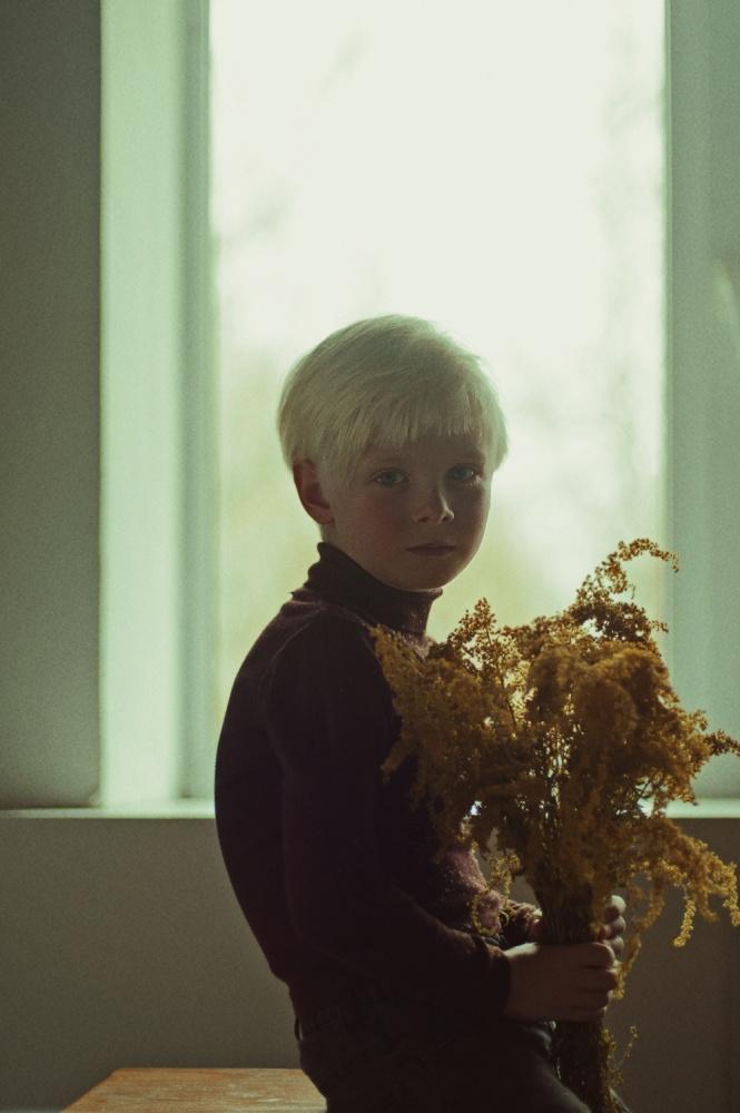 A piece of fine art art photography titled Autumn Flowers by Natalia Zhukova