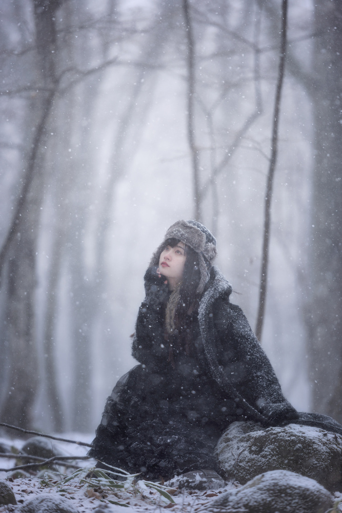 A piece of fine art art photography titled Winter Comes Around Again by Yuki Yatsushima