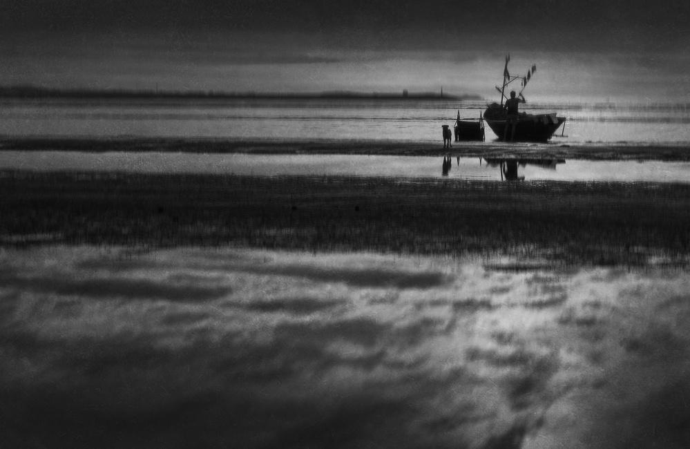 A piece of fine art art photography titled Beyond the Sea by Ekkachai Khemkum