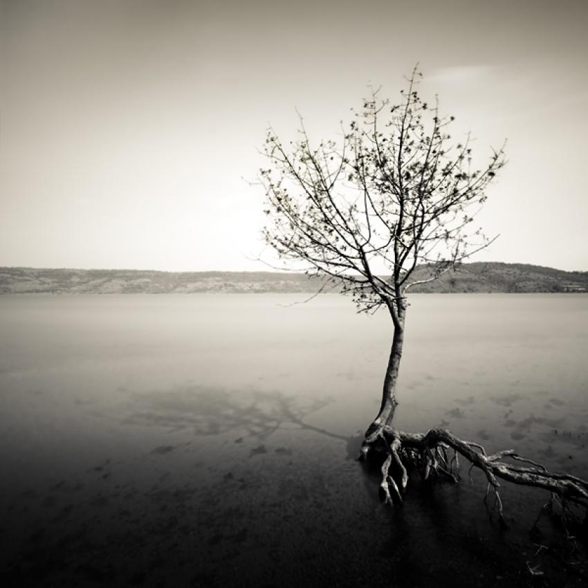 A piece of fine art art photography titled Lac Du Salagou #2 by Arkadius Zagrabski