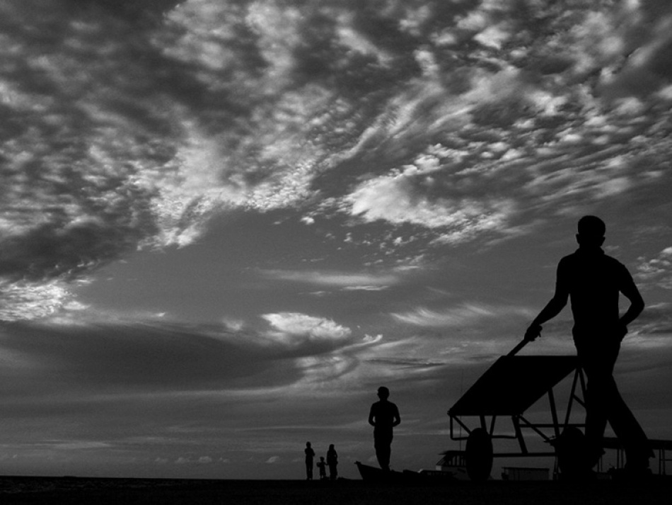 A piece of fine art art photography titled Silhouette Drama by Mohamed Abdulla Shafeeg