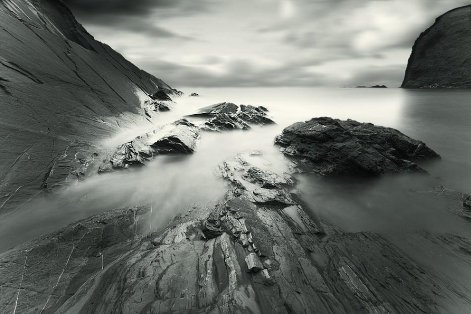 A piece of fine art art photography titled Rocky Times by David Baker
