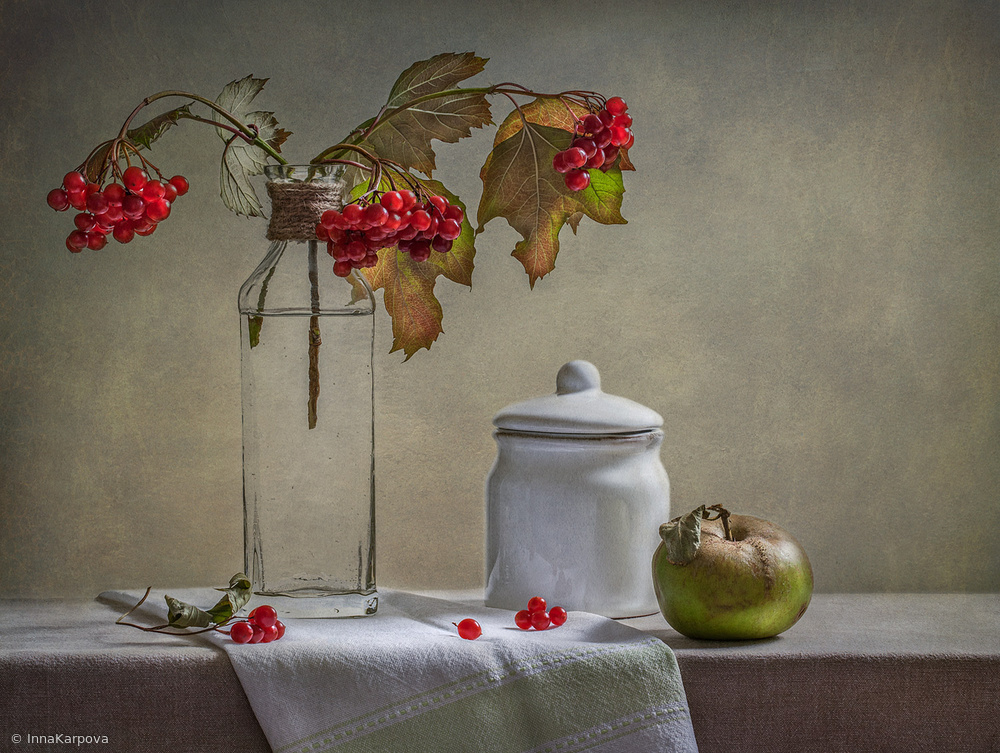 View this piece of fine art photography titled Still Life with Small White Jar by Inna Karpova