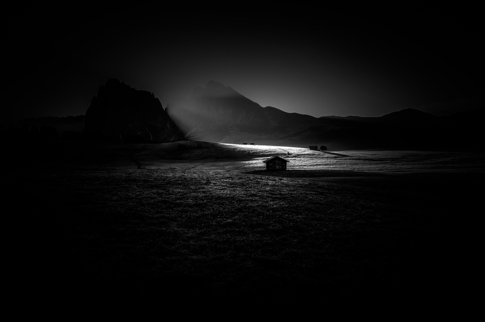 A piece of fine art art photography titled Alpe Di Siusi by Alessandro Traverso