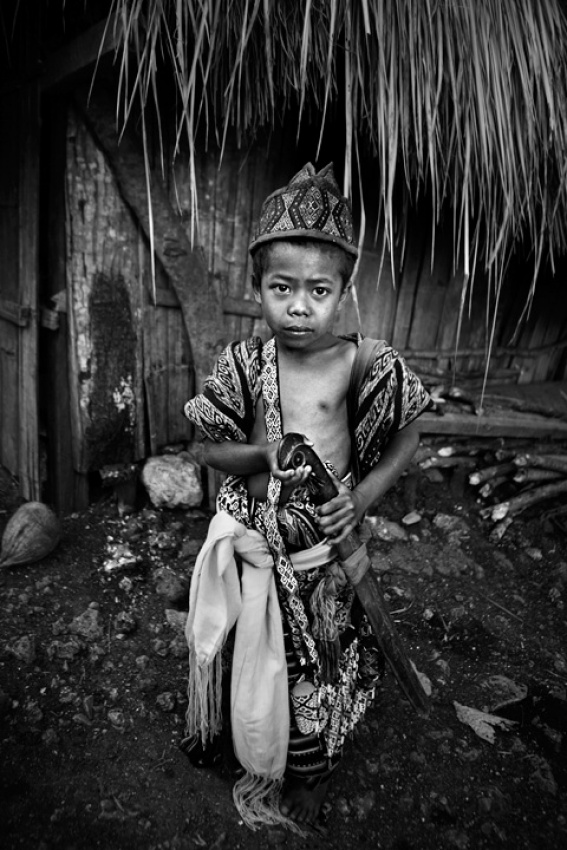 A piece of fine art art photography titled Young Warrior by Mitchell Kanashkevich