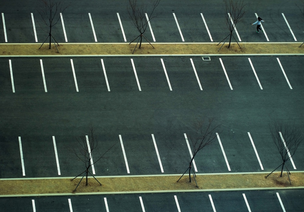 A piece of fine art art photography titled Car-free Day by dong hee HAN
