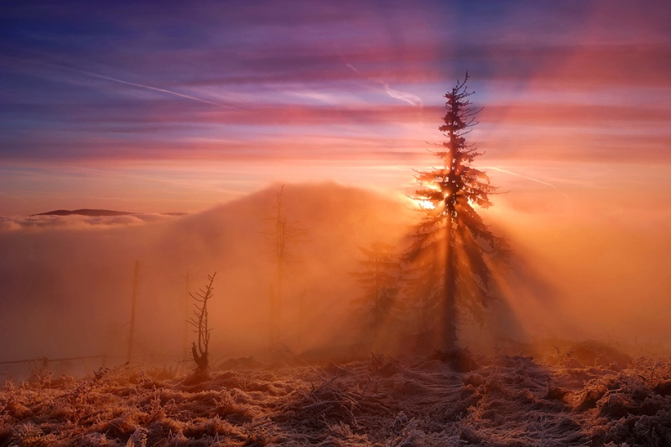 A piece of fine art art photography titled The Fabulous Sunrise  by Michal Ostrowski
