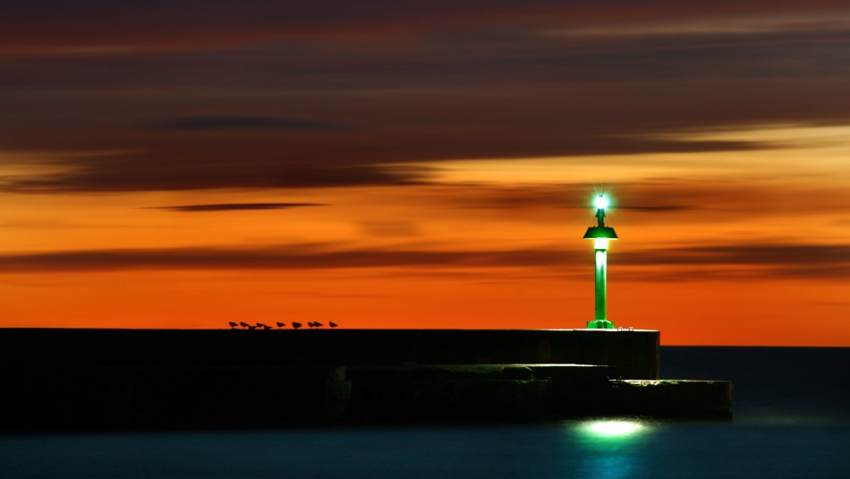 A piece of fine art art photography titled Green Beacon by Niels Christian Wulff