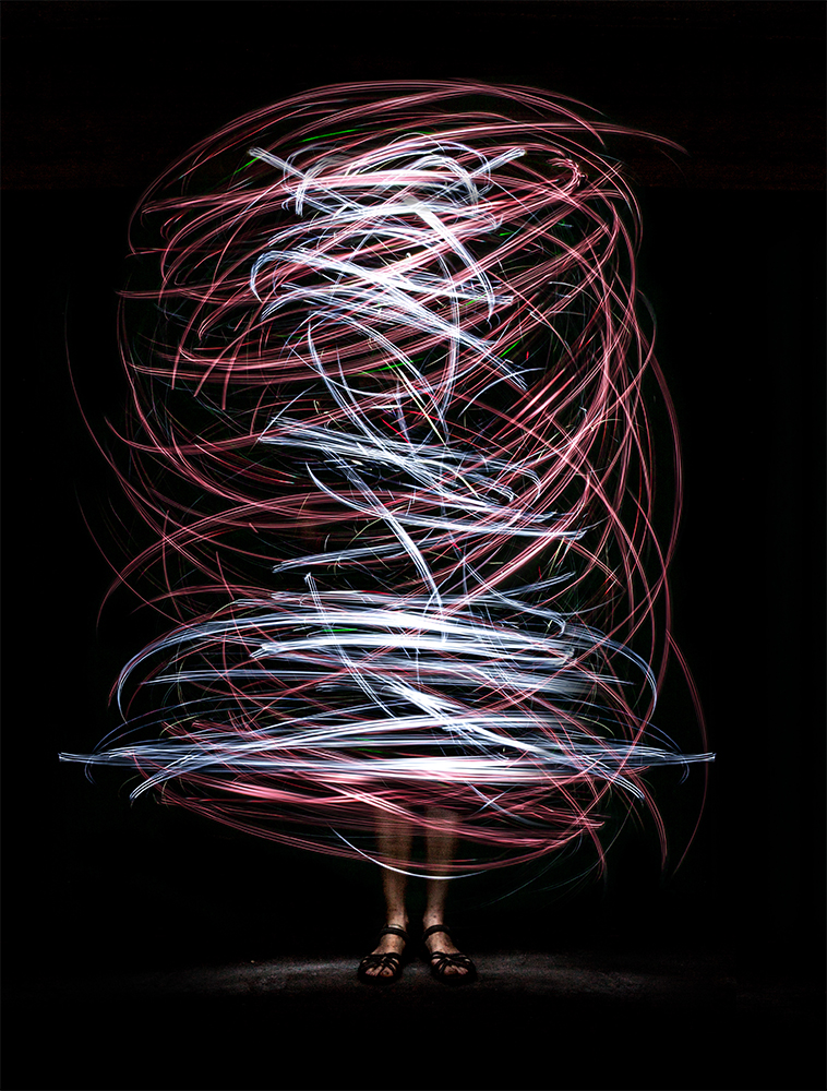 A piece of fine art art photography titled Light Painting by Karin Claus