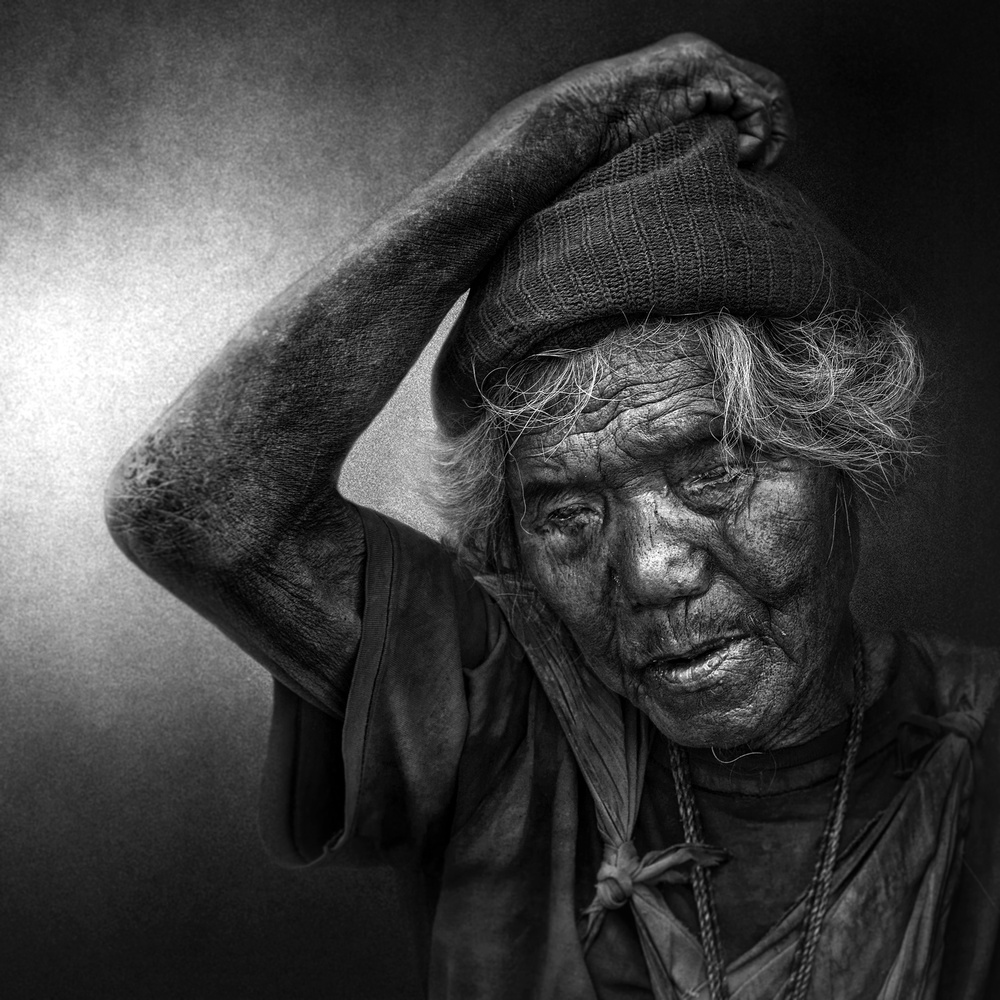 A piece of fine art art photography titled Thoughts of a Blind Man by Fadhel Almutaghawi