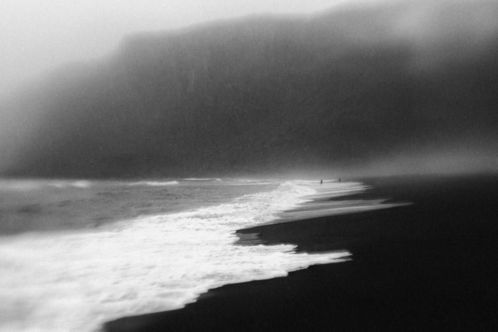 A piece of fine art art photography titled Black Sand by Jørgen Feldstedt
