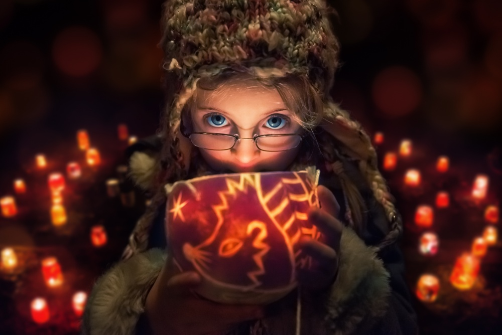 A piece of fine art art photography titled Just a Glowing Hedgehog by John Wilhelm