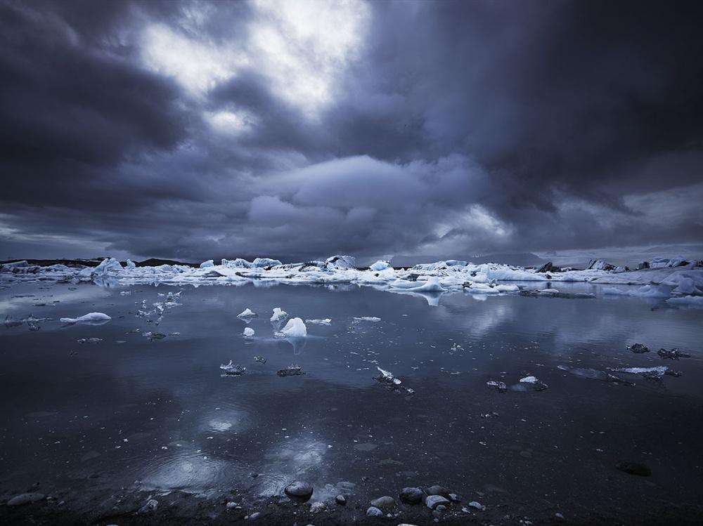 A piece of fine art art photography titled Jokulsarlon Glacier Lagoon by Fokion Zissiadis
