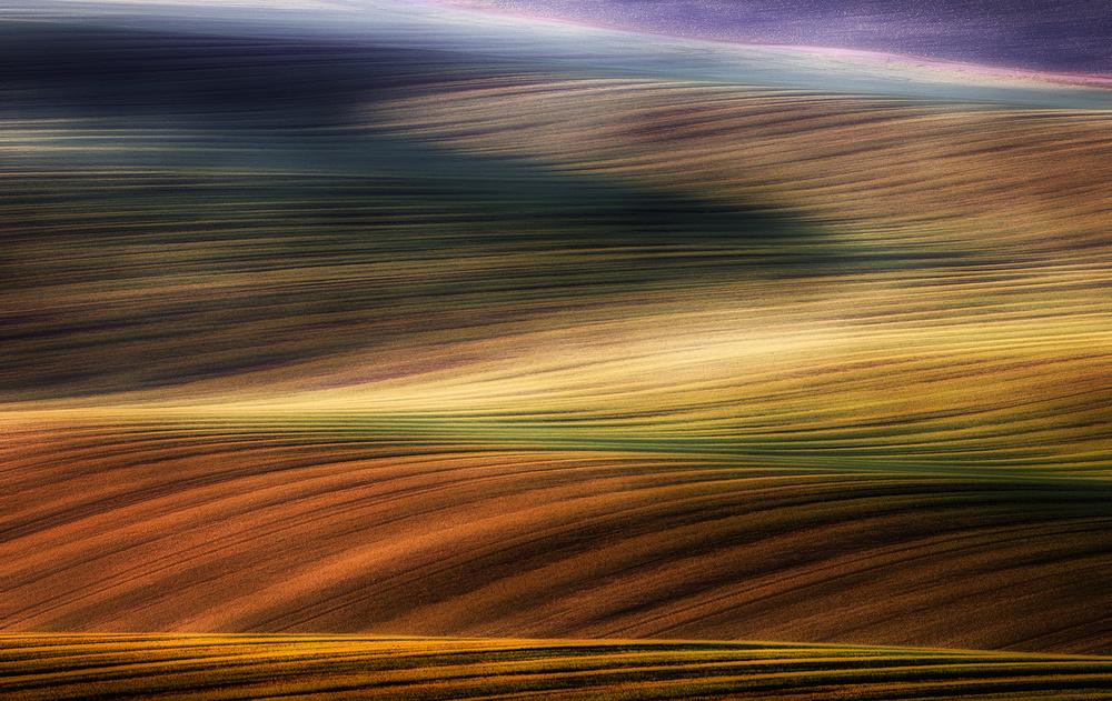 A piece of fine art art photography titled Autumn Fields by Piotr Krol (Bax)
