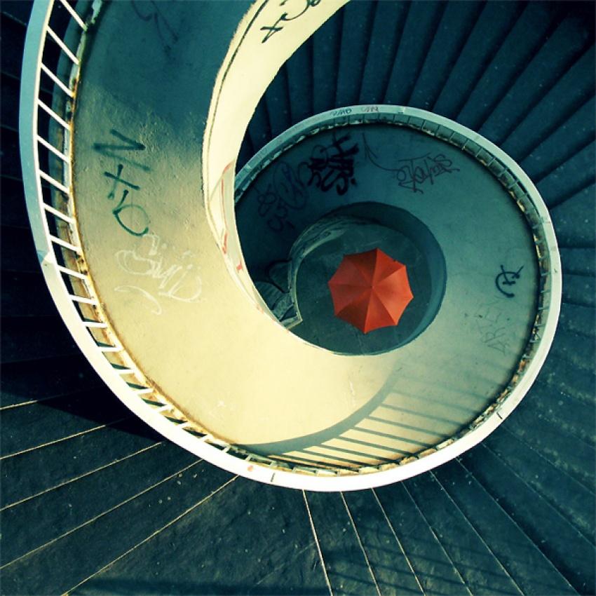 A piece of fine art art photography titled Umbrellas Twisted Imagination: by tysjusz