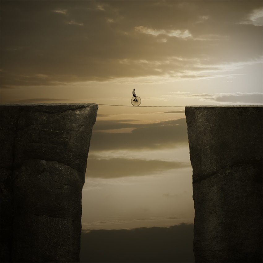 A piece of fine art art photography titled On the Edge by Leszek Bujnowski