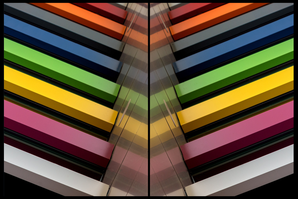A piece of fine art art photography titled The Coloured V by Theo Luycx