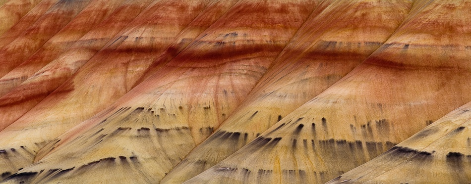 A piece of fine art art photography titled Painted Hills Pano by Jerry Berry