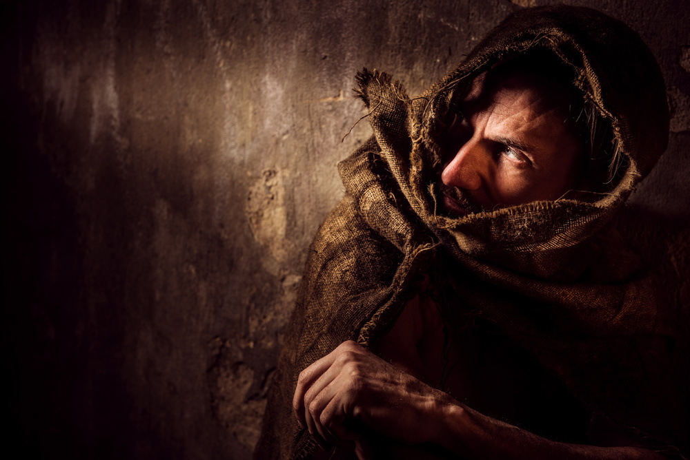 A piece of fine art art photography titled The Monk by Axel K. Schoeps