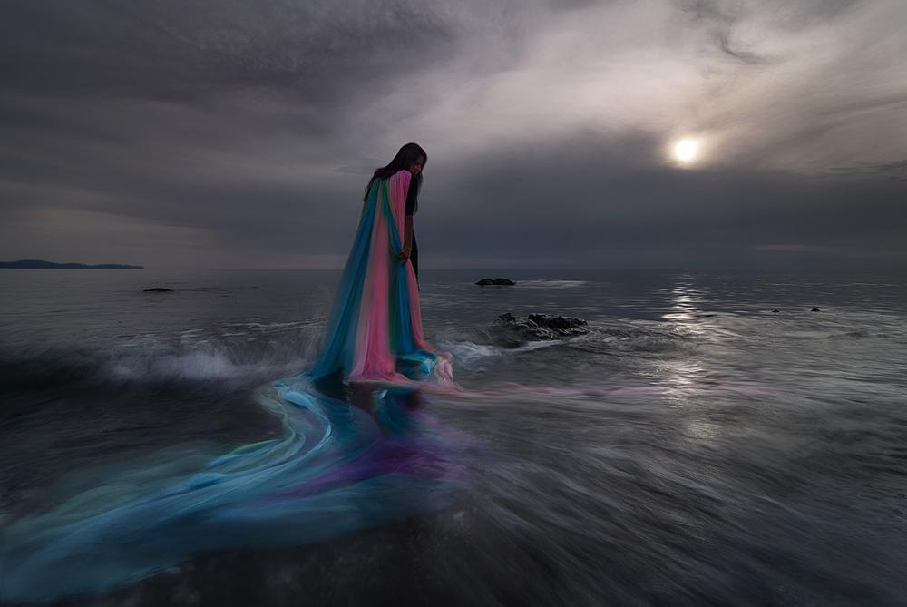 A piece of fine art art photography titled Iris by Maria Kaimaki