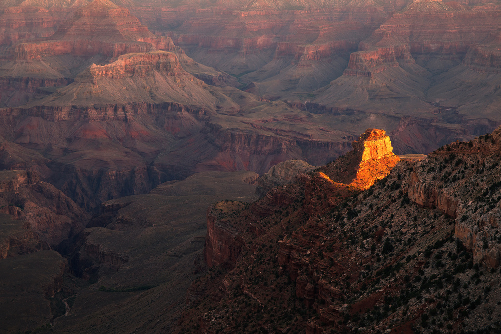 A piece of fine art art photography titled Grand Canyon Sunrise by weilian