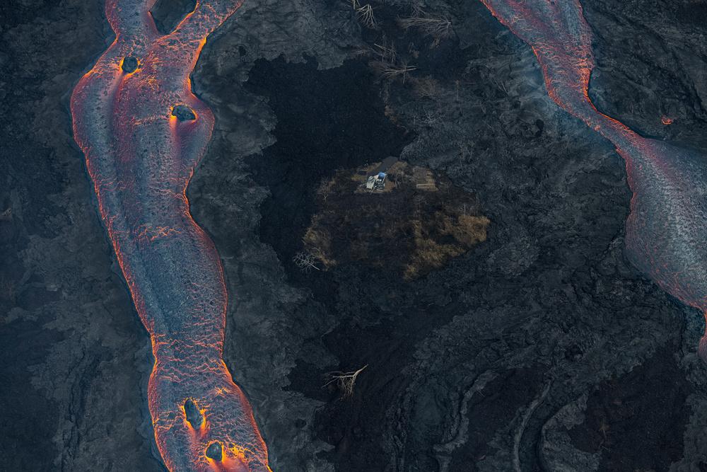 A piece of fine art art photography titled Lava Flow 2 by Bjoern Alicke
