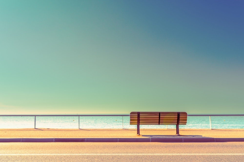 A piece of fine art art photography titled The Bench by Arnaud BRATKOVIC