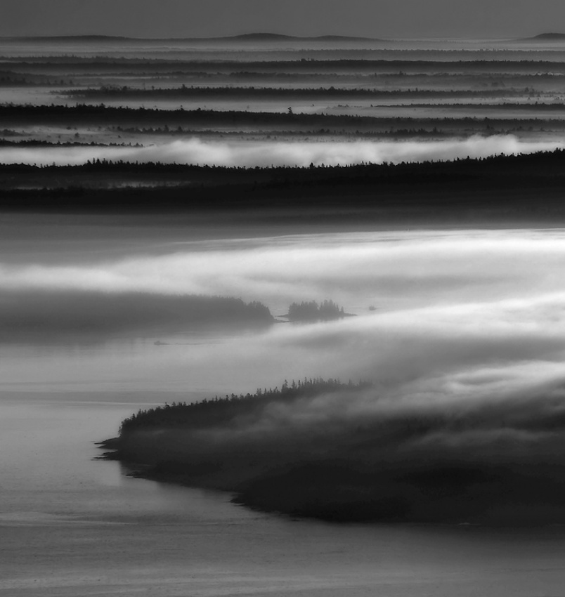 A piece of fine art art photography titled Frenchman's Bay Recursion by Neil R. Shapiro