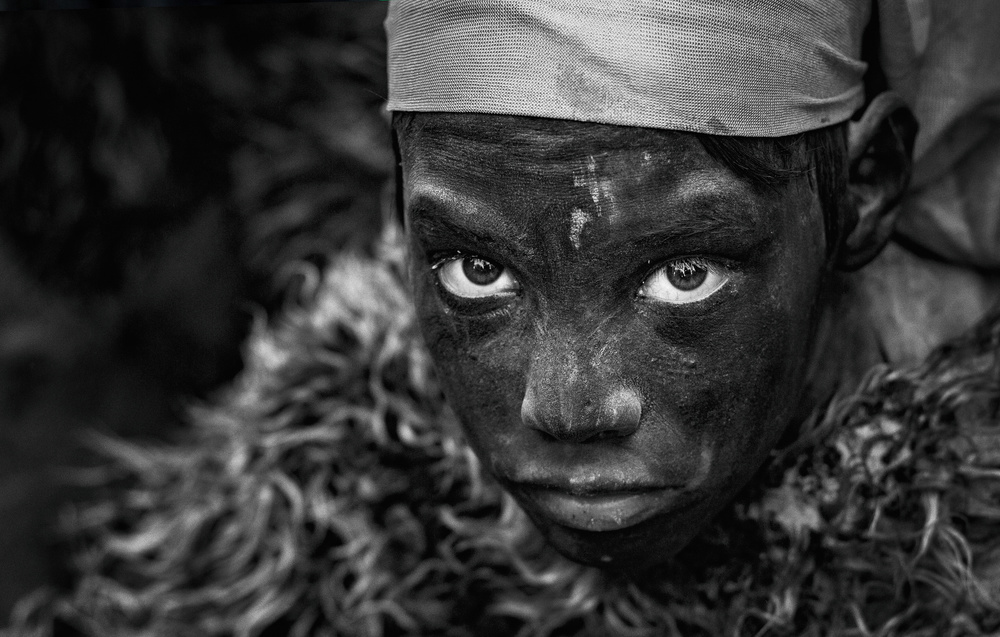 A piece of fine art art photography titled The Black Boy by Babak Mehrafshar (Bob)