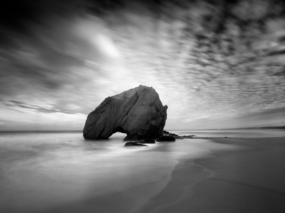 A piece of fine art art photography titled Penedo Do Guincho by Nana Sousa Dias