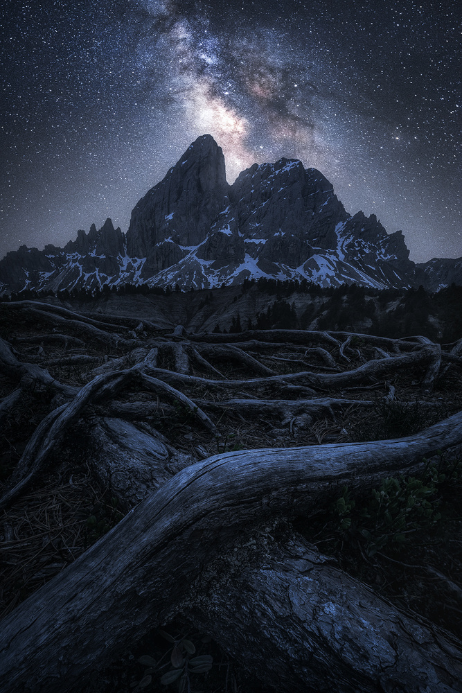 View this piece of fine art photography titled A Night in the Alps by Daniel Fleischhacker