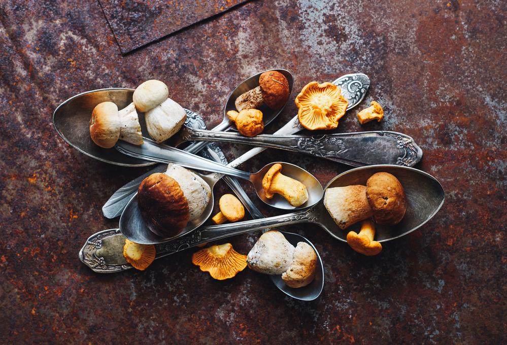 Spoons&Wild mushrooms