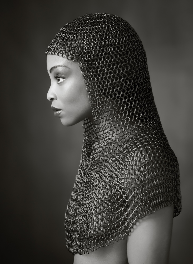 A piece of fine art art photography titled Lady Chainmail by Ross Oscar