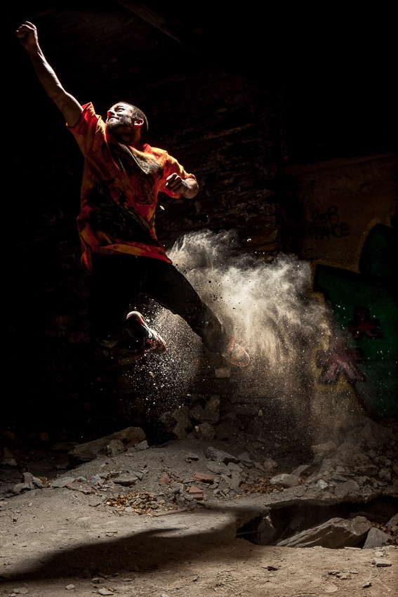 A piece of fine art art photography titled Takin Off With Colby James West by Tristan Shu