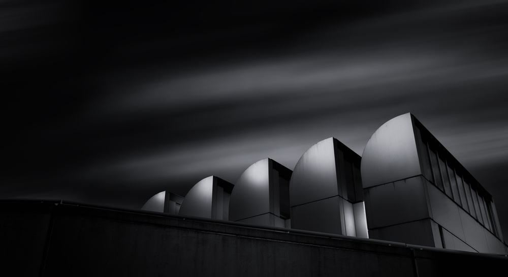 A piece of fine art art photography titled Bauhaus Archiv by Matthias Hefner