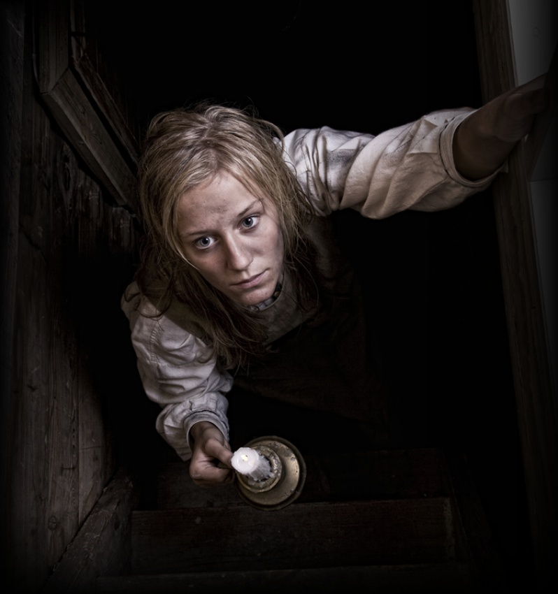 A piece of fine art art photography titled Evil Lurks In the Attic by Geir Akselsen