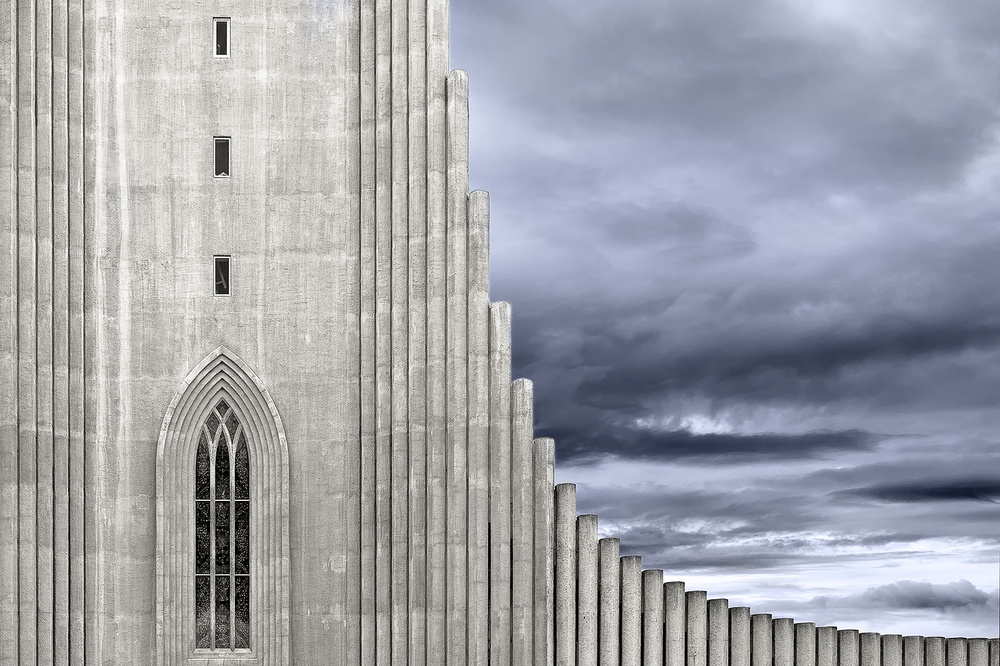 A piece of fine art art photography titled Hallgrímskirkja by Georges Forster