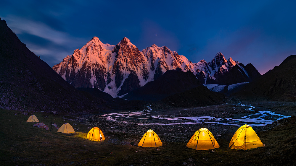 A piece of fine art art photography titled Camping at Bogda by Hua Zhu