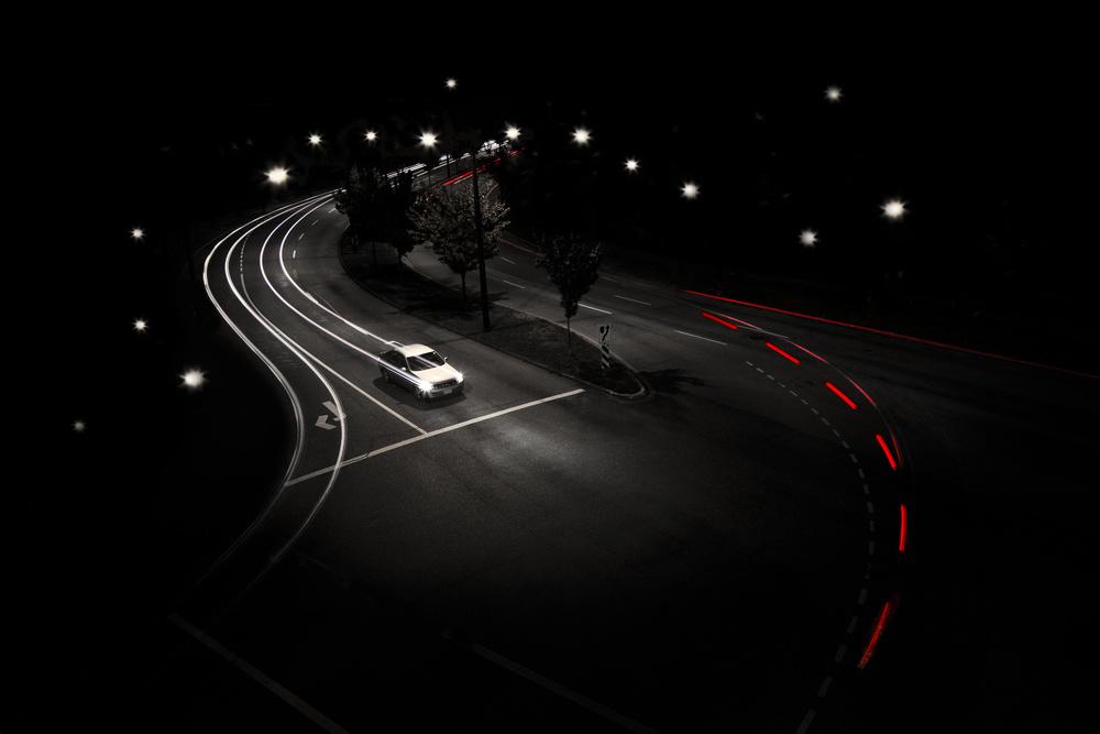 A piece of fine art art photography titled Night Street by Tony  Xu