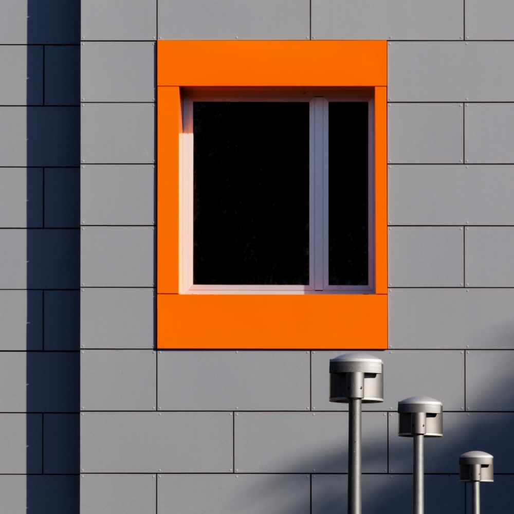 A piece of fine art art photography titled Composition of Gray and Orange by Gianluca Morello