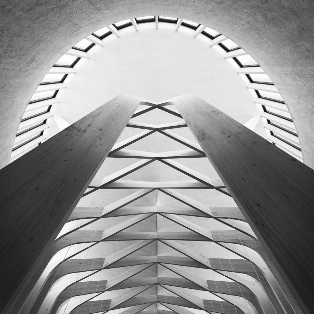 A piece of fine art art photography titled Bishop Edward King Chapel by Benjamin Brosdau