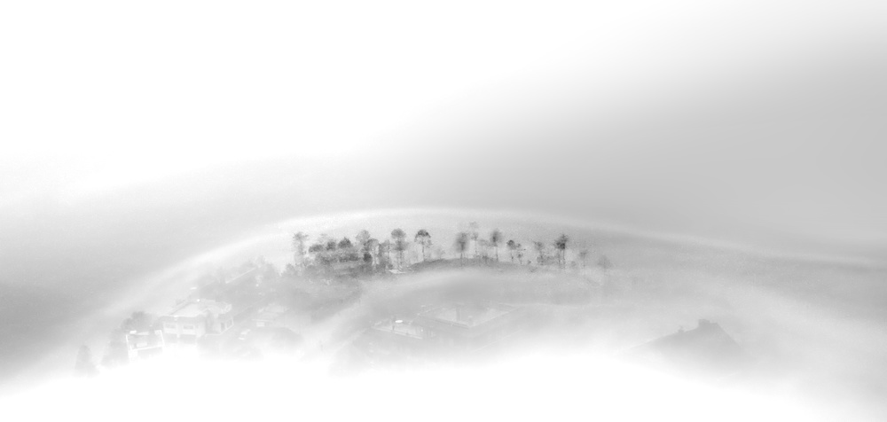 A piece of fine art art photography titled Fog the Mind, Stir the Soul by Yvette Depaepe