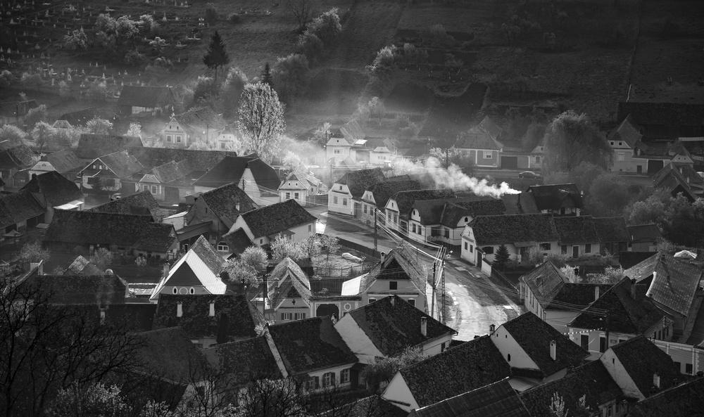 A piece of fine art art photography titled Transylvanian Village by Sebastiæn