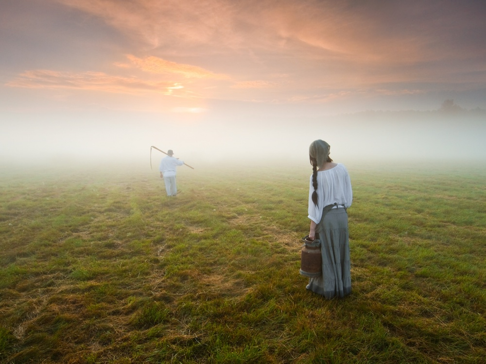 A piece of fine art art photography titled On the Way to Work by Leszek Paradowski