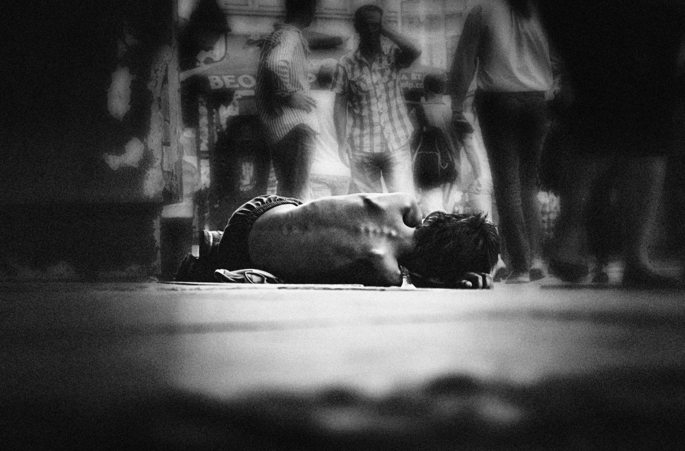 A piece of fine art art photography titled Childhood On the Streets by Ivana  Todorovic
